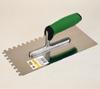 Glättekelle Stahl gezahnt 280 x 130 mm mit Soft-Griff