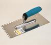 Glättekelle rostfrei gezahnt 280 x 130 mm mit Soft-Griff